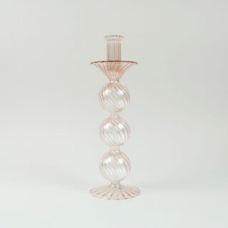 Venezian Glass Candle Holder - 1