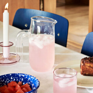 Flare Candlestick - Pink