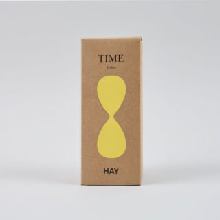 Glass sand timer by HAY - Medium yellow