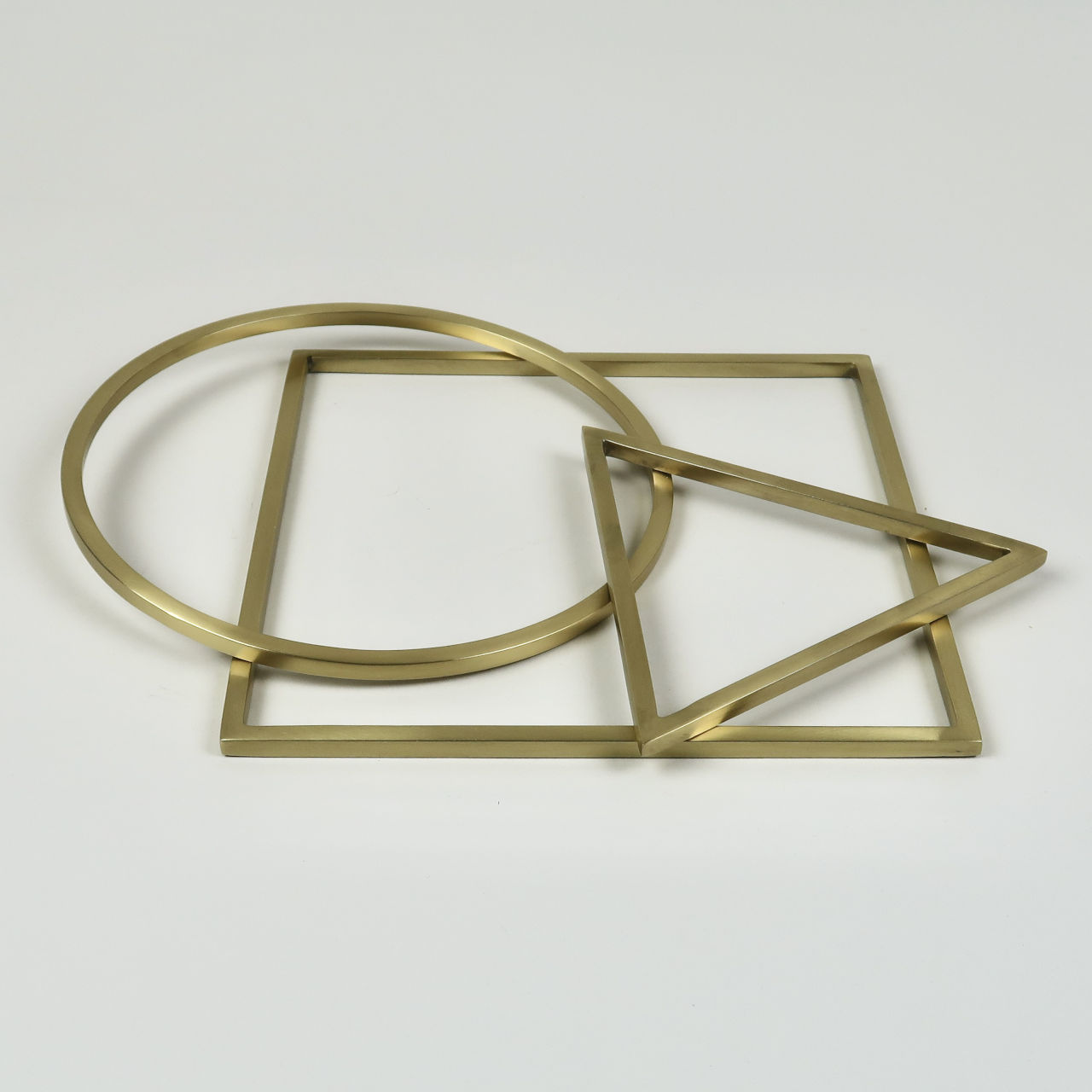 Brass Geometry Trivet