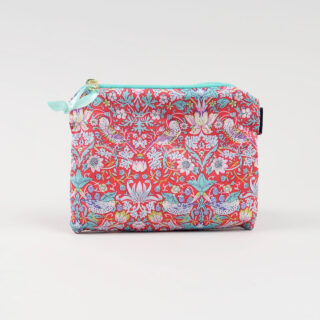 Liberty Print Fabric Purse - Strawberry Thief Red