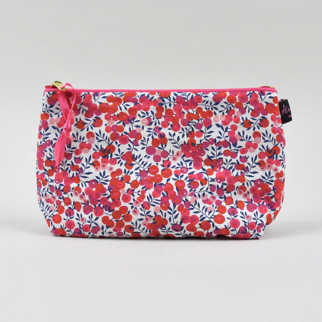 Liberty Print Fabric Cosmetic Bag - Wiltshire Red