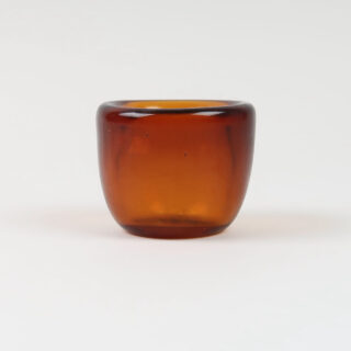 Handmade Glass Tealight Holder - Almond Shell