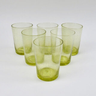 Boxed Set of 6 Recycled Glass Tumblers - Tuscan Yellow