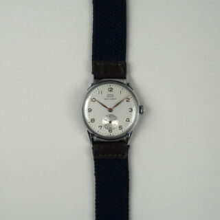 BillyBelt navy blue woven watch strap
