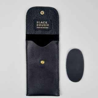 Leather wristwatch pouches