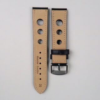 Calf leather Rally style watch strap