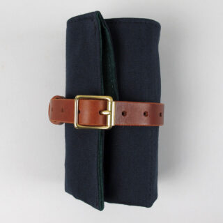 Black Bough canvas, suede and bridle leather 5 pocket watch wrap