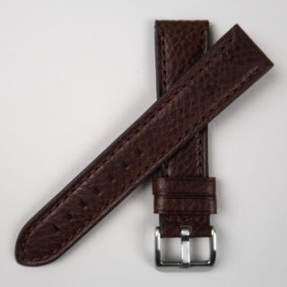 Textured thick calf leather watch strap