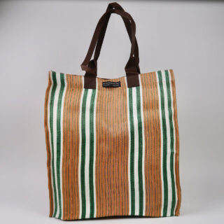 Eco Woven Market Shopper - Spanish Orange, Grass