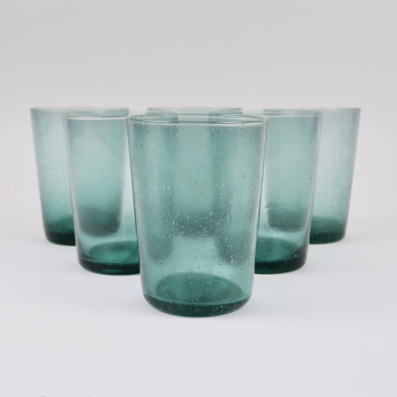 Boxed Set of 6 Recycled Glass Tumblers - Amulet