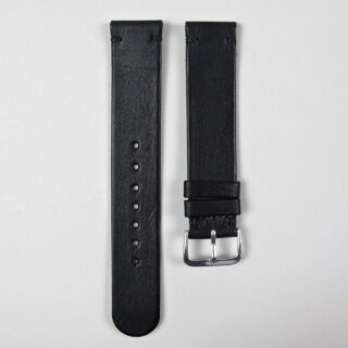 Christopher Clarke for Black Bough handmade charcoal black calf watch strap