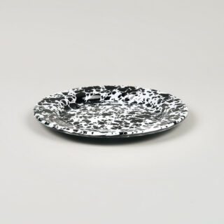 Enamel Splatterware - Salad Plate - Black