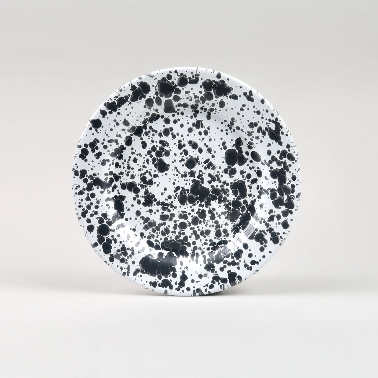Enamel Splatterware - Salad Plate - Grey