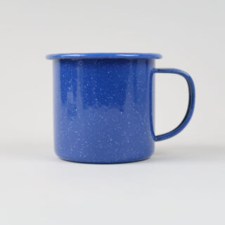 Flecked Blue Enamel Mug