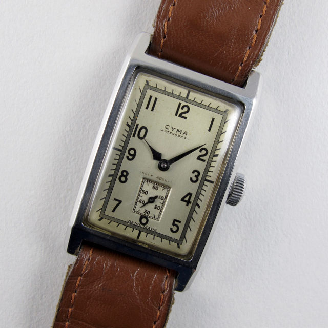 Cyma Watersport Ref. 25310 5550 steel vintage wristwatch, circa 1940