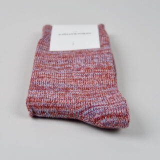 Men's Socks - Relax Chunky Knit - Red Wine/Pale Skin/Burnt Rust/Palm Springs Blue