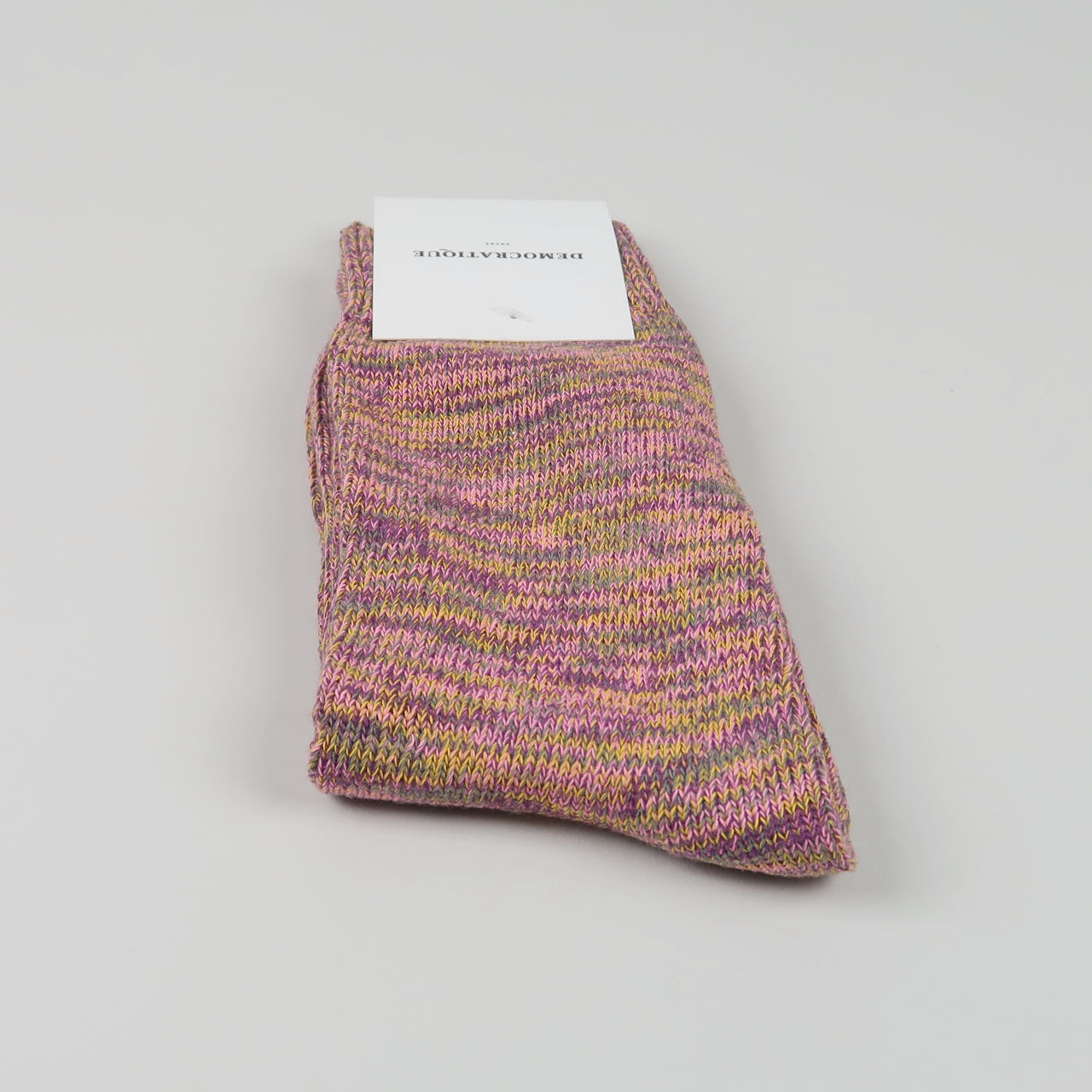 Men's Socks - Relax Chunky Knit - Violet/Pink Fleur/Army/Hot Curry