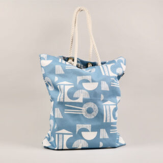 Glasses Design Tote Bag - Wedgwood Blue