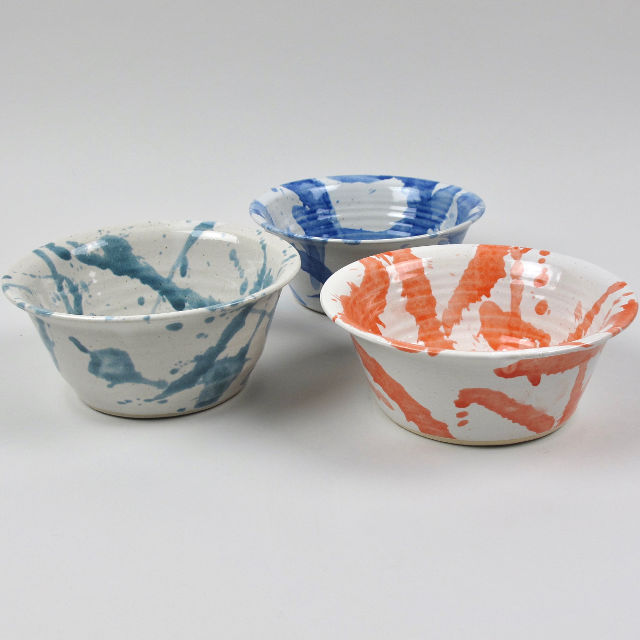 American Splash Medium Bowls, made in Wales