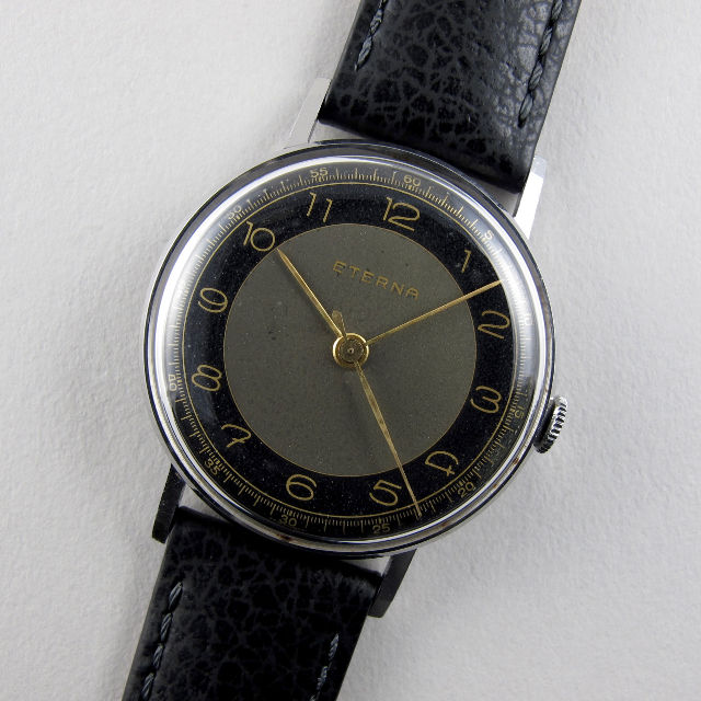 Eterna steel vintage wristwatch, circa 1941