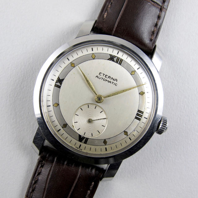 Eterna steel vintage wristwatch, circa 1946
