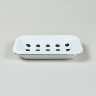 White Enamel Soap Dish