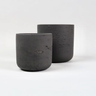 Set of 2 Stratton Plant Pots - Carbon