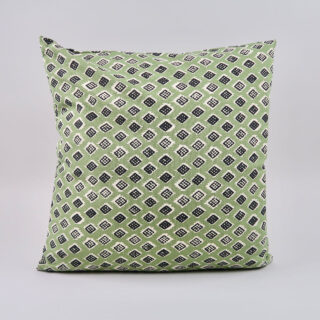 Square 'Dakar' Cushion - Olive/Black