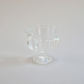 Glass Hen Shaped Egg Cup