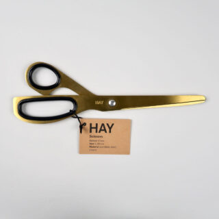 Polished brass coloured stainless steel scissors