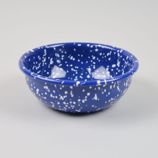 Enamel Bowl - Speckle Blue
