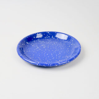Enamel Deep Plate - Medium - Speckle Blue