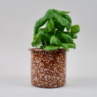 Enamel Herb Pot - Sprinkle Brown