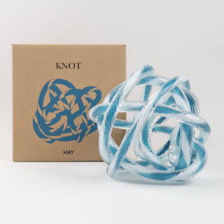 Knot - Teal & White - Large