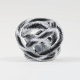 The glass in this knot has a ridged finish.