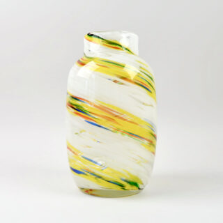 Hand Blown Splash Vase Medium - Lemon Swirl