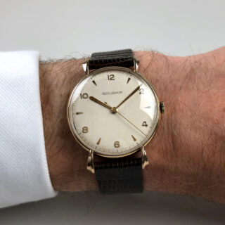 Jaeger-LeCoultre cal. 478 hallmarked 1954 | 9ct gold manual vintage wristwatch