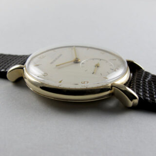 Jaeger-LeCoultre gold vintage wristwatch, hallmarked 1958