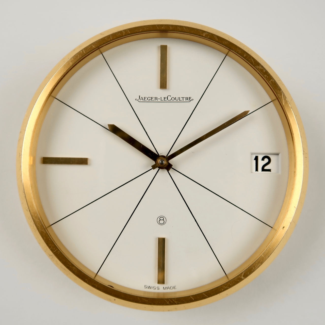 Jaeger-LeCoultre Ref. 383 circa 1960 | gilt brass manual vintage desk clock
