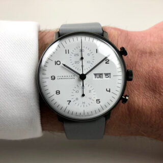 Junghans Max Bill Chronoscope Day-Date Ref. 027/4008.05 PVD steel automatic chronograph