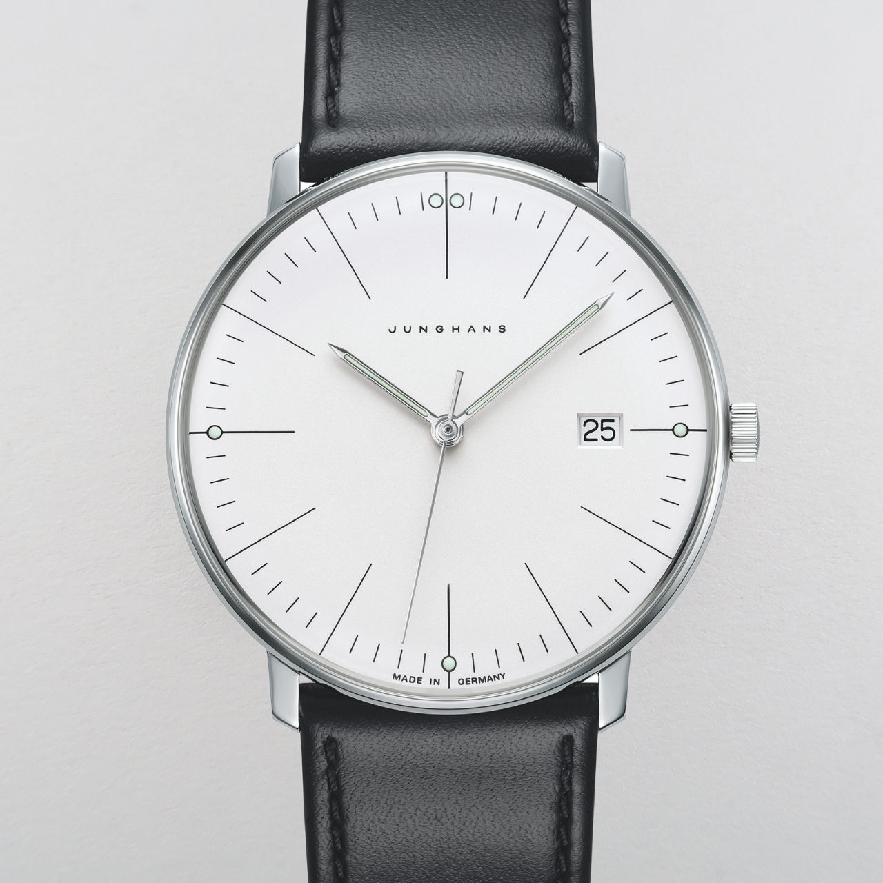 Junghans Max Bill Ref. 41/4817.04 steel quartz wristwatch
