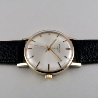 Longines Cal.284 hallmarked 1970 | 9ct gold manual vintage wristwatch with Longines box and booklet