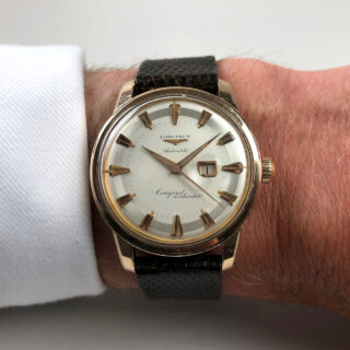 Longines Conquest Calendar Ref. 9007 -6 invoiced 1959 | steel & pink gold capped automatic vintage wristwatch