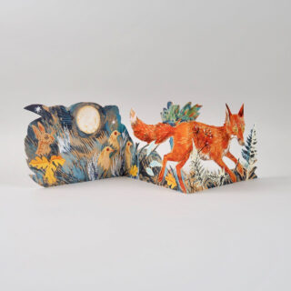Mark Hearld Die Cut Card - Fox