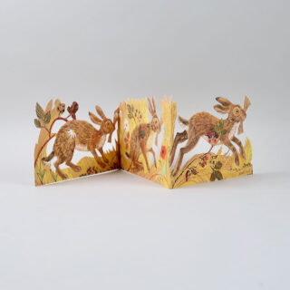 Mark Hearld Die Cut Card - Hares