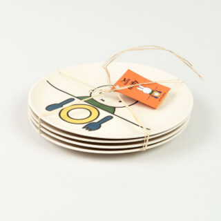 Set of 4 Bamboo Plates - Head