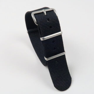 NATO single colour nylon watch straps with matt finished buckle