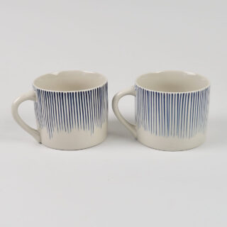 Pair of Short Karuma Mugs - Blue