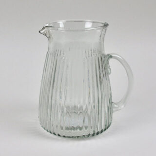 Ribbed Glass Jug - Large